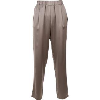 Fabiana Filippi Grey Silk Trousers