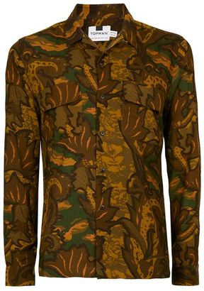 Camouflage Paisley Print Casual Shirt $60 thestylecure.com
