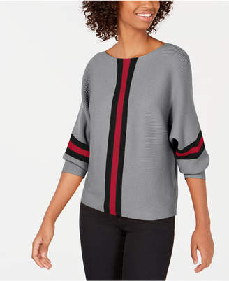 Say What Juniors' Ribbed Striped Sweater