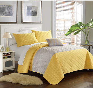 Chic Home Dominic 4 Piece King Quilt Set Bedding