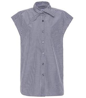 Balenciaga Cotton-blend plaid shirt