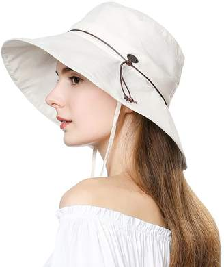 BEIGE Comhats Womens Sun UV Protection Hats Cap Wide Brim Summer Garden  Shade Hat Crushable SiggiHat ce417f6ad644
