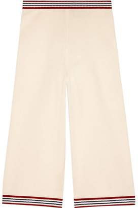 Gucci Silk cotton pant with stripes