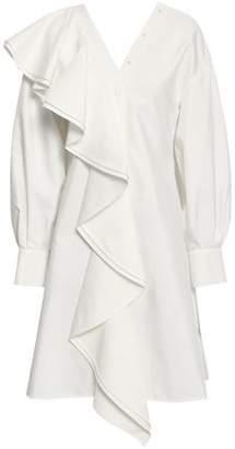 ADEAM Ruffled Cotton-blend Dress