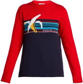 Prada Banana-intarsia wool sweater