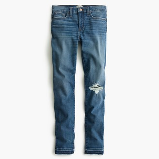 "J.Crew 8"" toothpick jean in Newcastle wash with let-down hem"