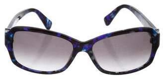 Diane von Furstenberg Faith Marbled Sunglasses