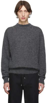 Schnaydermans Grey Mohair Crewneck Sweater