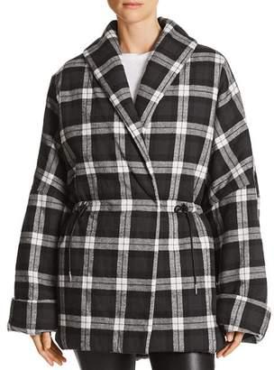 Bloomingdale's Divine Heritage Plaid Puffer Coat