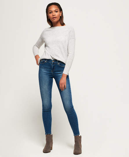 Super Vintage Skinny Mid Rise Jeans