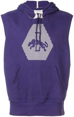 Puma logo printed sleeveless hoodie