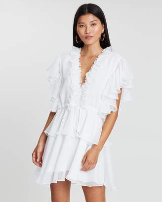 Shona Joy Ruffle D-String Mini Dress