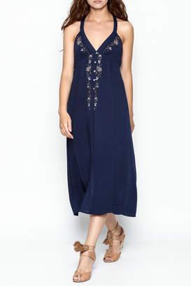 Lush Navy Midi Dress