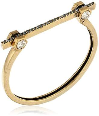 Nicole Miller Artelier Bolt Pave Bar Clasp Bangle Bracelet