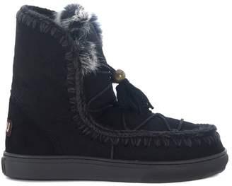 Mou Eskimo Dreamcatcher Black Sheepskin Ankle Boots