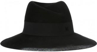 Maison Michel Black Rabbit Hats