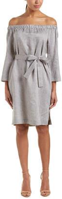 Lafayette 148 New York Off-The-Shoulder Linen Shift Dress