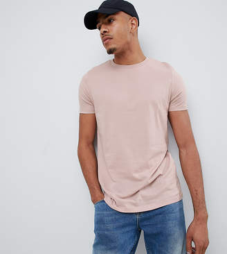 BEIGE Asos Design ASOS DESIGN Tall organic t-shirt with crew neck in