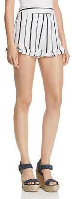 Blu Pepper Striped Ruffle-Hem Shorts