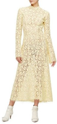 Derek Lam Victorian-Lace Midi Gown, Lemongrass $3,495 thestylecure.com