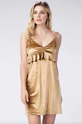 Honeybelle honey belle Gold Velvet Dress