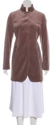 Akris Punto Short Velour Coat