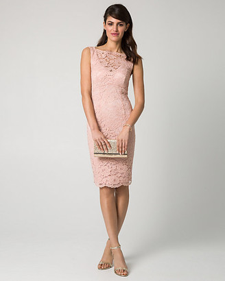 Le Château Lace Illusion Cocktail Dress