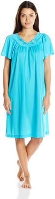 Shadowline Women's Petals 40 Short Flutter Sleeve Waltz Gown