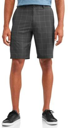 Hogan Ben Big Men's Performance Plaid Active Flex Waistband Golf Short