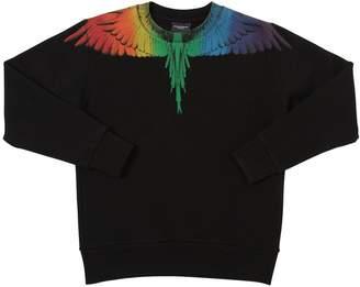 Marcelo Burlon County of Milan Wings Rainbow Printed Cotton Sweatshirt