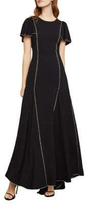 BCBGMAXAZRIA Ruffle-Sleeve Gown