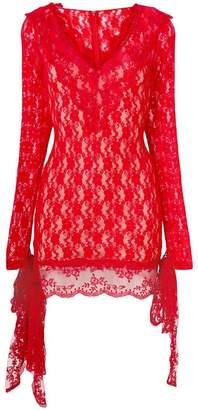 Christopher Kane stretch lace mini dress
