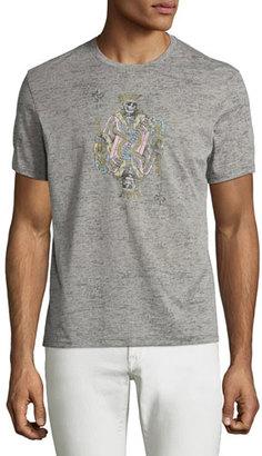 John Varvatos Star USA JV Skeleton King Graphic T-Shirt, Light Gray $78 thestylecure.com