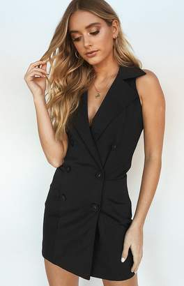 Beginning Boutique Dystopia Blazer Dress Black