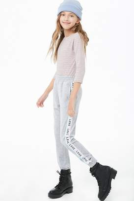 Forever 21 Girls Love Graphic Joggers (Kids)