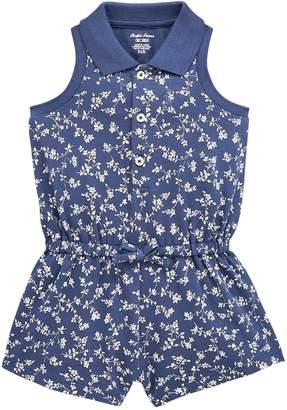 Ralph Lauren Girls Floral Print Playsuit