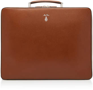 Mark Cross Baker Textured-Leather Briefcase