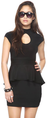 Forever 21 Cutout Peplum Dress