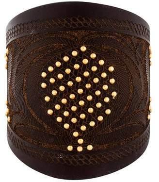 Valentino Studded Leather Wrap Bracelet