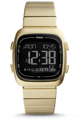 Fossil Rutherford Digital Gold-Tone Stainless Steel Watch
