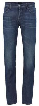 HUGO BOSS Extra-slim-fit low-rise jeans in Italian stretch denim