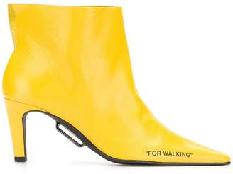 Off-White pointed toe boots