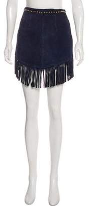 Understated Leather Leather Mini Skirt