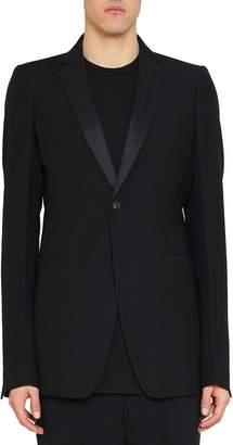 Rick Owens Black Wool Extreme Soft Tuxedo Blazer