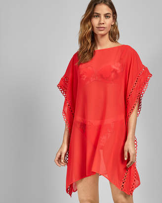 Ted Baker LILELLA Lace trim square cover up