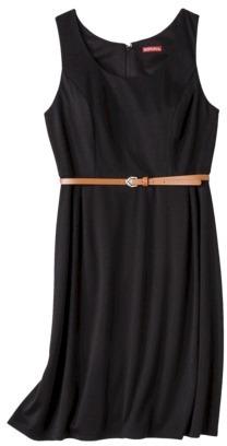 Merona Women's Refined A-Line Dress - Black Basin