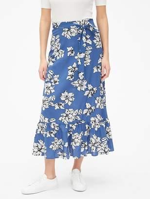 Gap Ruffle Hem Midi Skirt