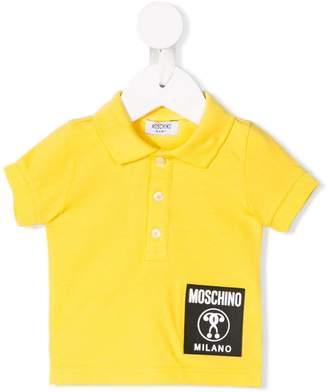 Moschino Kids logo patch polo shirt