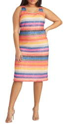 Rachel Roy Rainbow Stripe Sheath Dress