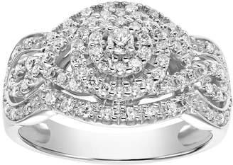 Vera Wang Simply Vera 14k White Gold 1/2 Carat T.W. Diamond Tiered Engagement Ring
